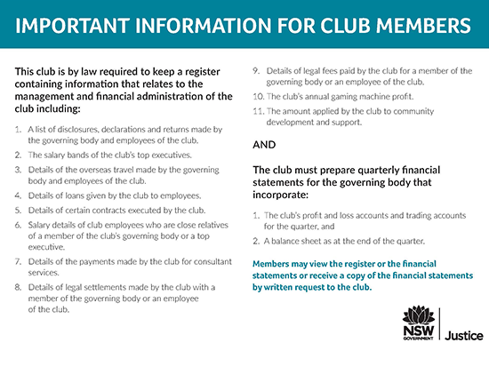 Registered Clubs Act